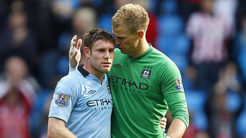 Man City gia hạn với Milner và Hart