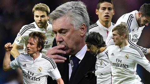 """Ancelotti dập bão chấn thương bằng khả năng """"xếp hình"""" siêu hạng"""