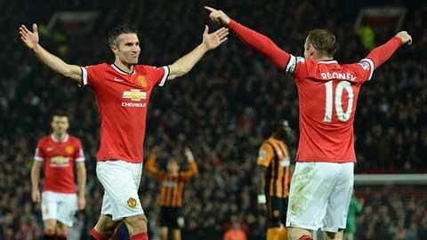 Song sát Rooney–Van Persie sẵn sàng cho trận derby nước Anh