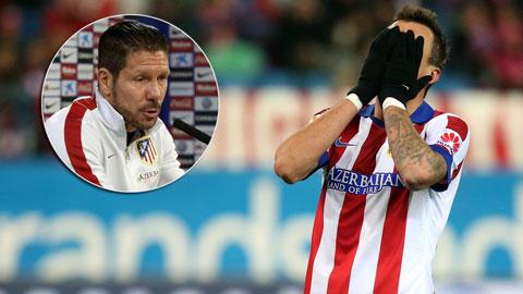 """Simeone: """"Atletico đã hoàn toàn mất kiểm soát!"""""""