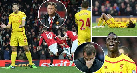 Hậu derby nước Anh: Van Gaal chưa thỏa mãn, Rodgers suy sụp vì thua đau