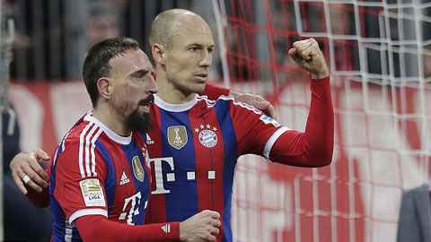Robben ghi bàn thứ 100, Bayern Munich thắng nhẹ Freiburg