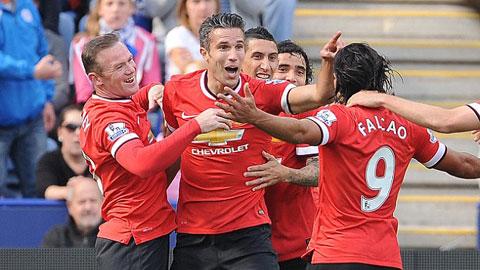 """Van Persie """"kết"""" Falcao và Rooney, loại Di Maria trong trò chơi đối kháng"""