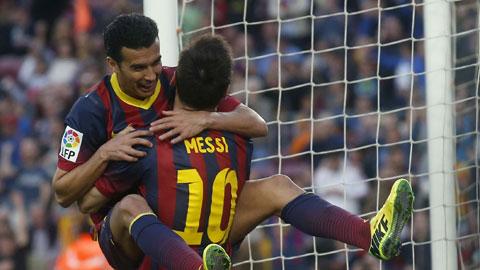 Barca 5-0 Cordoba: Người hùng Pedro