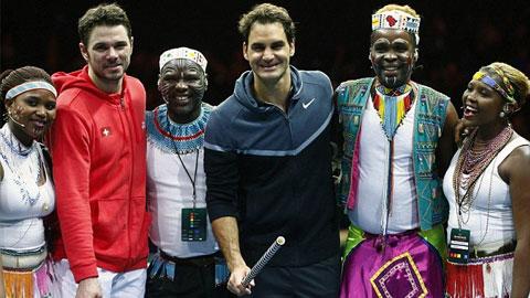 """Mối """"thâm thù"""" giữa Federer và Wawrinka được cởi bỏ"""