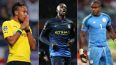 Cầu thủ xuất sắc nhất châu Phi 2014: Cuộc đua giữa Yaya Toure, Aubameyang và Enyeama
