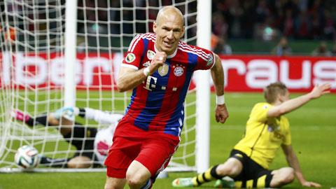 "Robben ""bay"" nhất Bayern"