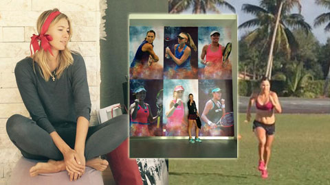 Sao WTA và Giáng Sinh: Kẻ rong chơi, người tập luyện