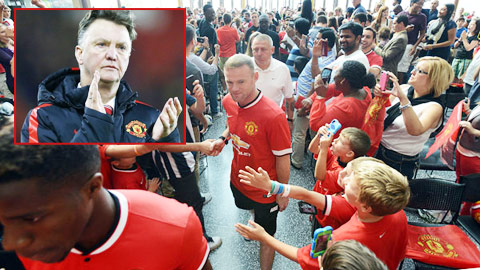 "Van Gaal ra ""mật chỉ"" với sao Man United"