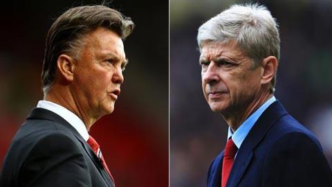 Van Gaal và Wenger mạnh miệng về khả năng vô địch của đội nhà