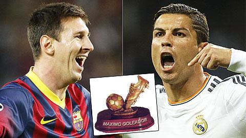Ronaldo bỏ xa Messi trong cuộc đua giành Pichichi