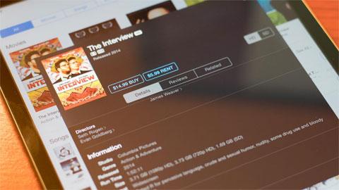 The Interview xuất hiện trên iTunes