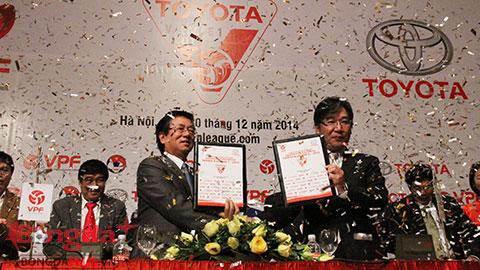 Toyota Việt Nam trở thành nhà tài trợ chính cho V-League 2015