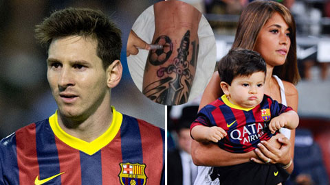 """Messi bị """"ném đá"""" ngay hình xăm đầu tiên"""
