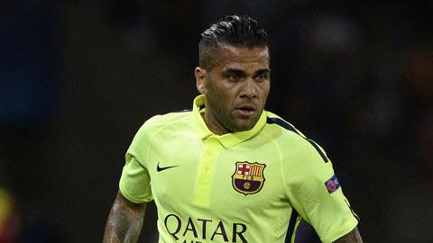 Alves vẫn thoải mái dù bị Barca