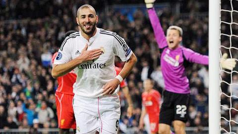 Liverpool chi 50 triệu bảng cho Benzema!