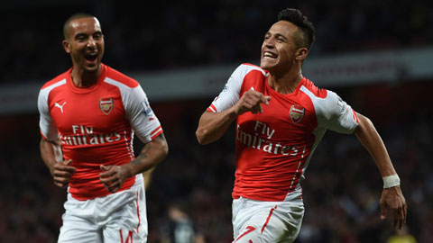 Walcott hạnh phúc được sát cánh cùng Sanchez