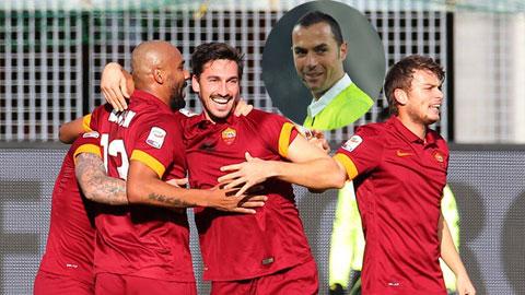 Udinese 0-1 Roma: Thắng nhờ trọng tài!