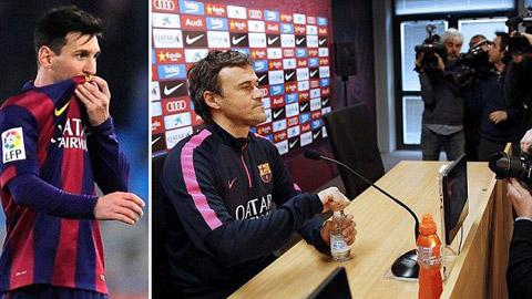 Messi vs Enrique: Cuộc chiến không cân sức!