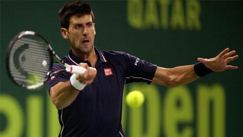 Novak Djokovic dễ dàng vào tứ kết Qatar Open