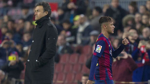 Hết Messi, tới lượt Neymar bất mãn với Luis Enrique