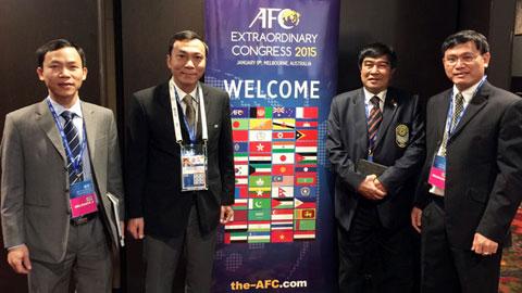 Lãnh đạo VFF tham dự Đại hội AFC