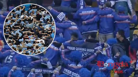 CĐV Than Quảng Ninh cổ vũ chuyên nghiệp như… Man City