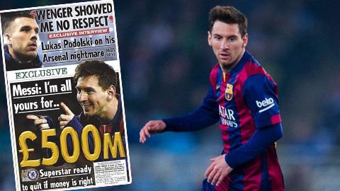 Tổng hợp chuyển nhượng (10/1): Chelsea dùng 500 triệu bảng mua Messi
