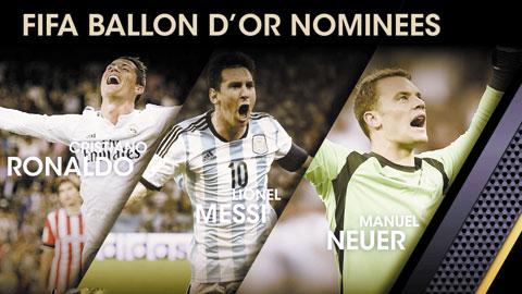Quả Bóng Vàng FIFA 2014 được bầu như thế nào?
