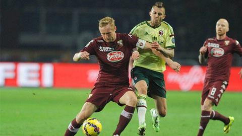 Torino 1-1 AC Milan: Hòa cực nhọc ở Turin