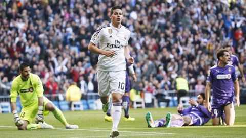 James Rodriguez ghi bàn đầu tiên trên sân nhà cho Real