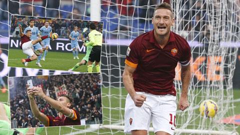 Roma 2-2 Lazio: Totti cứu Roma