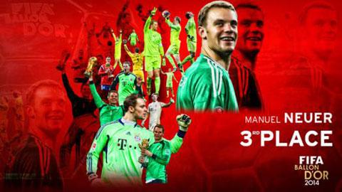 Neuer không thất vọng khi chỉ giành Quả bóng Đồng