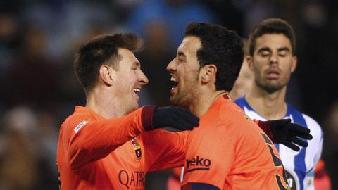 Deportivo 0-4 Barca: Messi nhấn chìm Depor!