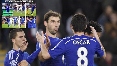 Chelsea vùi dập Swansea: Phong cách Đế vương