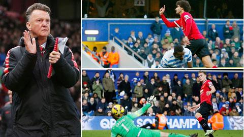 M.U nhọc nhằn đánh bại QPR: Công Van Gaal, tội cũng Van Gaal