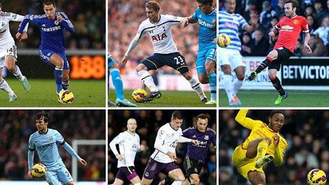 10 tiền vệ công xuất sắc nhất Premier League mùa này
