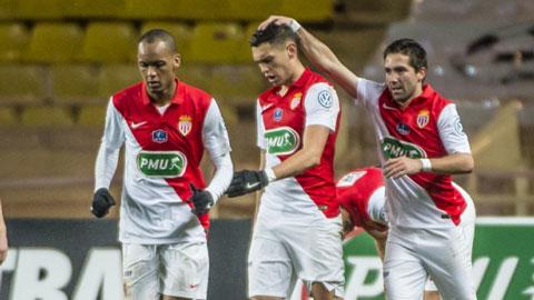 Vòng 1/16 Cúp QG Pháp: Monaco thắng dễ, PSG trầy trật đi tiếp
