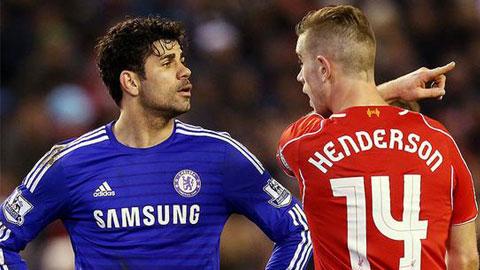 Henderson suýt nói chuyện bằng tay với Diego Costa