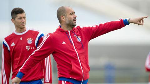 Thấy gì về Bayern Munich qua những bài tập của Guardiola?