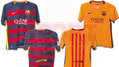 Lộ diện áo đấu lạ lẫm của Barca mùa 2015/16
