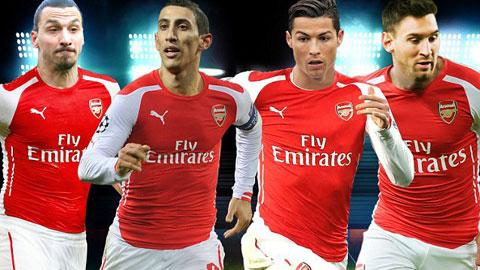 Arsenal mua hụt nguyên một Dream-team!