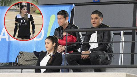Sau giờ bóng lăn (26/1): James Rodriguez ôm con đi cổ vũ vợ thi đấu