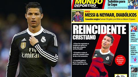 Hôm nay công bố án phạt của Ronaldo: Chỉ Barca sốt sắng