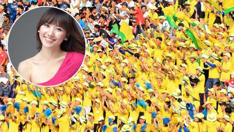 """CĐV Đồng Tháp háo hức vì """"hot girl"""" Hari Won"""