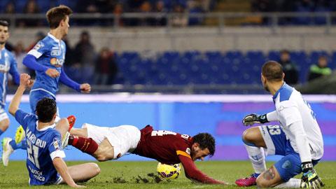 Roma 1-1 Empoli: Thêm một cú vấp