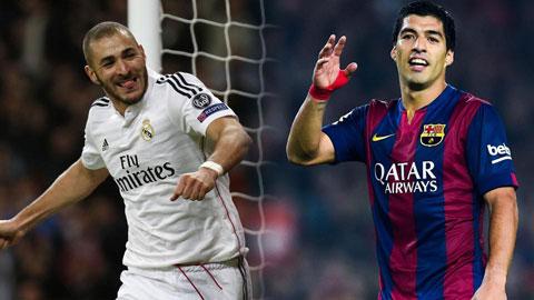 Suarez đang thực hiện vai trò giống như Benzema