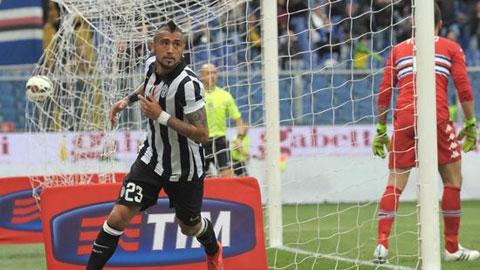Vidal lần thứ 2 ghi bàn quyết định Scudetto: Chiến binh Chile hồi sinh
