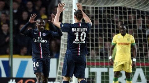 Thắng nhẹ Nantes 2-0, PSG tiến gần hơn tới chức vô địch