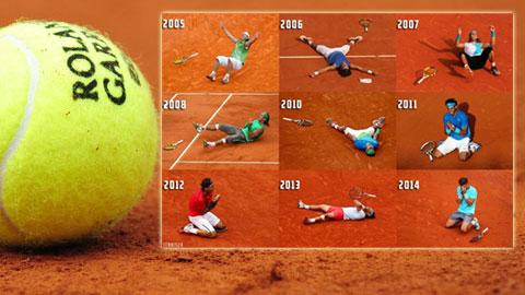 Nadal và 9 sắc thái tại các trận chung kết Roland Garros